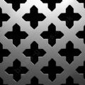 Oregon Cross 28mm Silver Grille Anodised Aluminium Sheet 1000mm x 660mm x 1mm